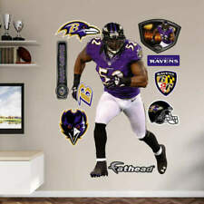 "Ray Lewis FATHEAD Ravens Purple Nike Jersey 3'11""x6'4"" Real Big LIFESIZE +EXTRAS"