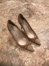 New manolo blahnik dasti Bicolor Patchwork Pointy Toe Pump Sz 36 $825