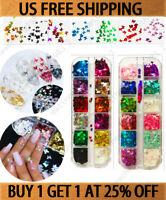 Colorful 3D Laser Butterfly Sequins Nail Art Flakes Glitter Foil Decoration New