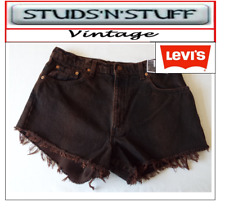 """LEVIS  VINTAGE WOMENS HIGH WAISTED SHORTS SIZE 36"""" APROX SIZE 16   (A22 )"""