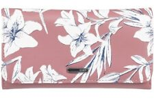 NWT WOMENS ROXY MY LONG EYES WITHERED ROSE FAUX LEATHER CLUTCH WALLET PURSE