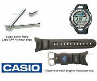 Genuine Casio Screw Set for SPF-40 SPF40 Casio Watch Strap Band - Qty 4
