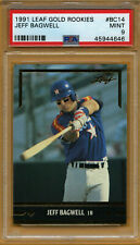 1991 Leaf Gold Rookies #BC14 Jeff Bagwell RC PSA 9 Mint SP Houston Astros