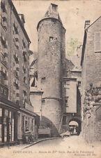 COUTANCES 22 maison du XVème siècle rue de la poissonnerie timbrée 1906