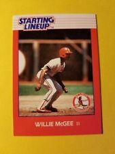 1988 Willie McGee - Kenner Starting Lineup Card - St. Louis Cardinals