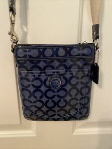 Coach Cross Body Vintage Purse Blue Patent Leather