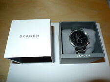 Skagen SKW6360 Ancher Black Dial Chronograph Men's Watch