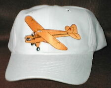 Hat With J3 Cub Airplane Aircraft Embroidered Emblem Low Profile Whte Hat R/C