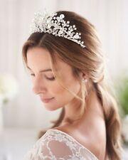 Swarovski Crystal Tiara, Silver Bridal Crown, Rhinestone Wedding Tiara, Bridal H