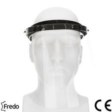 Gesichtsschutz Gesichtsvisier Visier Aufklappbar mit 3 Wechselfolien CE