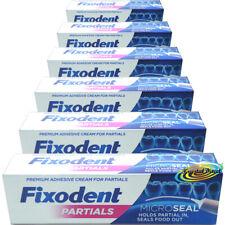 6x Fixodent Plus for Partials Zero 0% Percent Denture Adhesive Cream 40g