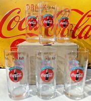 lot de 6 verres vintage COCA COLA café LEFFE