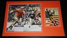 Bullet Bill Dudley Framed 1941 Virginia vs North Carolina Framed Display