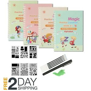 Gigilli Magic Practice Copybook For Kids, Reusable Magic Calligraphy Tracing Han