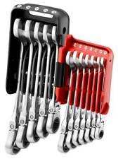 Facom 467BS.JP10 10 Piece Metric Stubby Anti-Slip Ratcheting Spanner Set 7-17mm
