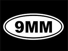 "0053  9MM oval 8"" x 3.5"" decal sticker"