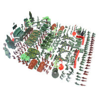 519pcs Action Figures 4cm Army Men Soldier Playset with Tanks Planes Flags