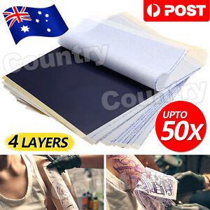 50X Tattoo Stencil Transfer Paper Spirit Thermal Carbon Tracing Copier Supplies