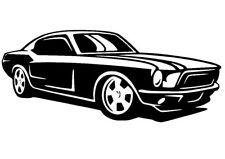 Mustang Coche Decal/Sticker