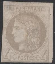 """FRANCE STAMP TIMBRE N° 41 Ba """" CERES BORDEAUX 4c GRIS JAUNATRE """" NEUF (x)  K293"""
