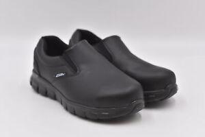 Women's Skechers Sure Track - Vonn Slip On Steel Toe Work Shoes, Black, 7