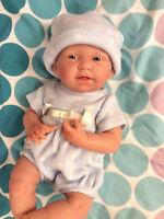 "Berenguer 15"" La Newborn Anatomically Correct Boy Baby Doll Blue Knit Reborn"