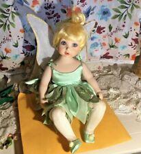 Orignal Disney Marie Osmond Pixie Porcelain Tink Tinker Bell Doll #333  EUC 2002