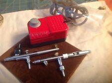 DInair Airbrush pump ,hose ,2/Airbrushes Used