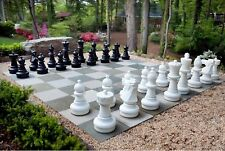 """Giant Plastic Chess Set with a 25"""" King Outdoor Chess Set"""