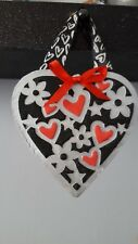 hanging hearts, handmade, silver or gold. Mothers day, birthdays gifts