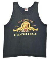 Vintage MGM Studios Logo Tank Top Black Size L Florida Metro Goldwyn Mayer