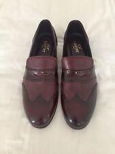 LIDFORT Bourgogne Cuir Élastique Chaussures Derbies Uk 8