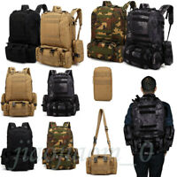 Camping Backpack 55L Outdoor Military Tactical Bag Travel Hiking Rucksack US LOT