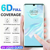 6D UV Liquid Tempered Glass Full Protector Film For Huawei P30 Lite Pro Mate20