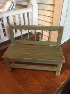 Hank Taylor Artisan Signed Garden Bench Dollhouse 1:12