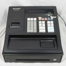 SHARP XE-A107 Cash Register with Keys AC Adapter & Manual Tested WORKS