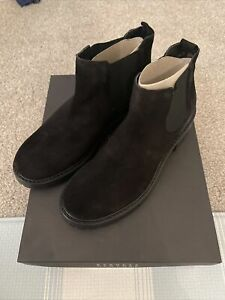 Barney New York Black Suede Ankle Fashion Boots Bootie Size 37 EUR Msrp $460