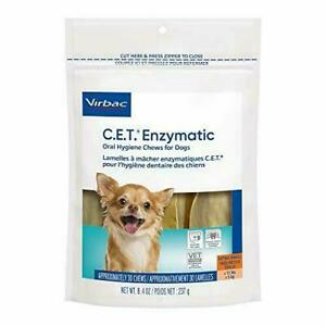 Virbac C.E.T. Enzymatic Oral Hygiene Chews for Dogs Extra Small