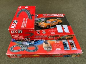 SCX 1/43 Slot Car Track, Cars, Controllers, Power Packs – large lot