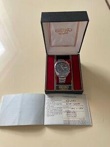 SEIKO 1970 RESIST  6139-6009 CHRONOGRAPH WRISTWATCH + ORIGINAL PAPERWORK + BOX