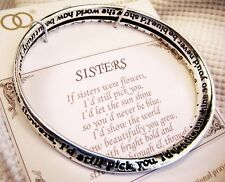 """Sisters are Like Flowers"" Bangle Mobius Bracelet-Verse on Bangle & Prayer Card"