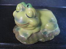 Vintage Josef Originals Frog With Worm On Head