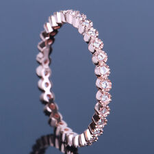 Diamonds Solid 10K Rose Gold Wedding & Anniversary Band Full Eternity Fine Band