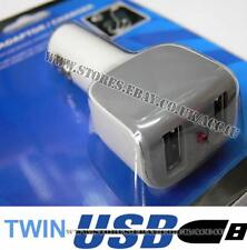 12v 24v 2A iPhone iPad Coche Doble USB Cargador Adaptador de Alimentación Toma de carga de múltiples