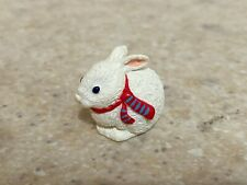 Hallmark 1993 Christmas Merry Miniature Bunny with Scarf and Gold Sticker