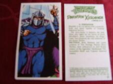 """BROOKE BOND TEA VINTAGE PICTURE CARD """"TEENAGE MUTANT HERO TURTLES"""" 11 SHREDDER"""