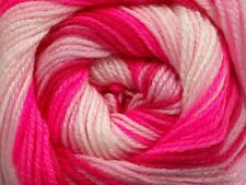 100 Gram Magic Light #49998 Pinks White Ice Self-Striping DK Yarn 393 Yards