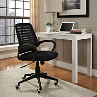 Ergonomic Adjustable Mid-Back Mesh Computer Desk Task Office Chair in Black