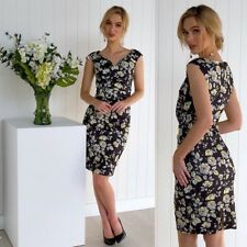 Size 12 Beautiful Floral Print Sheath Dress Work