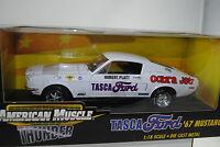1:18 Ertl 1967 Ford Mustang TASCA Hubert Plano Cobra chorro Rareza NUEVO / OVP